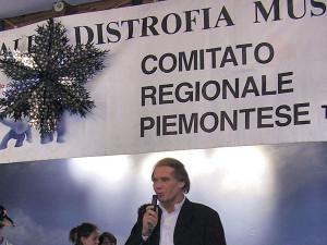 L'ex presidente Peirolo ad una festa pre-natalizia
