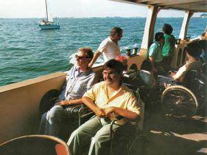 1980: Pierluigi e il dottor Bussi in battello a Venezia